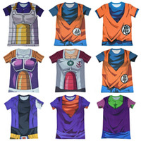 Wholesale Dragon Ball Z Super Saiyan compression t shirts tees Vegeta bick cloth the wu is empty kaka ronaldo anime T shirt tops t shirt