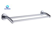 Wholesale Nail free Single Towel Bar Reuseable Waterproof High Bearing Capacity Ultra Firm Stainless Steel Chrome RJ A