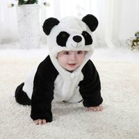 Wholesale 2016 New Baby So Darling Animal Costume Onesie Cute Climbing Pajamas Romper Jumpsuit Coverall Lovely Panda Rompers for Kids