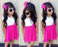 beautiful zebras - 2016 New Summer Girls Lace Collar Lovely Bow Chiffion Dresses Kids Girsl Fashion Princess Dresses Childrens Clothing Kids Beautiful Dress