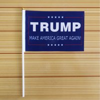 Wholesale Donald Trump Make America Great Again Hand Flag Donald for President x inch