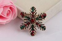 adorn woman - New Arrival South Korea Joker Small Adorn Article Sweet Brooch Colorfull Snowflake Retro Women Pin