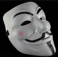 Wholesale White Eco friendly PVC V For Vendetta Anonymous Movie Guy Fawkes Vendetta Mask Halloween Cosplay HP0001