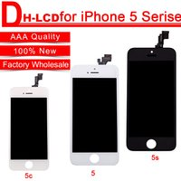 Wholesale AAA High Quality LCD Display Touch Digitizer Complete Screen With Frame Full Assembly Replacement For iPhone S C With Free DHL Shipping