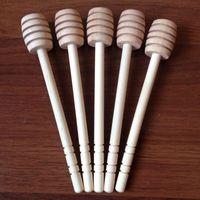 Wholesale 500pcs New Arrive MINI Wooden Honey Dippers Wedding Favors Honey Dipper spoon Gift