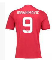 Wholesale IBRAHIMONVIC New Season Man United Home Red Soccer Jerseys ROONEY Football Shirts Men Size S XL Thailand Quality