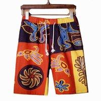 Wholesale Summer Men s Print Shorts Fashion Casual Men Pattern Linen Short Pants And Beach Sport shorts XL XL XL Big yards size