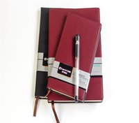 big book covers - Classiic Brown Hard covered Paper Notebook Office Book Stationery PU Cover Simple Design K K thread bound edition Memo