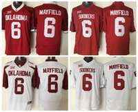 bakers fashion - Men College Baker Mayfield Jersey Red White Oklahoma Sooners Baker Mayfield Football Jerseys Fashion Stitching High Quality