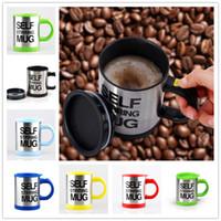 automatic milking - 2016 New Hot Pc Ml Mug Automatic Electric Lazy Self Stirring Mug Automatic Coffee Milk Mixing Self Stirring Mug Cup Stainless Steel