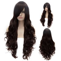 aisaka taiga cosplay - Dark Brown Long Hair Heat Resistant Curly Wavy Wig Aisaka Taiga Anime Cosplay Party Wig Lady s Synthetic Hair cm