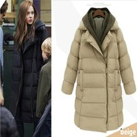 Wholesale 2016 Women s Down Parkas jacket plus size coat detachable cap thickened down cotton Down Jackets Cotton padded jacket A115