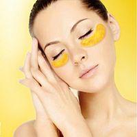 Wholesale pack K Gold Eye Mask Golden Crystal Collagen Eye Mask Anti Aging eliminates dark circles and fine lines Face care Skin care