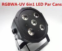 Wholesale 1 New W RGBWA UV in1 LED Par Cans CH Disco DJ Lighting DMX