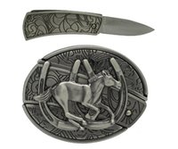 Wholesale Running Horse With Knife Western Belt Buckle Cool Hip