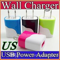 egg roll - NEW V MA A university double color egg roll style us wall charger plug for iphone for samsung dual color charger T SC