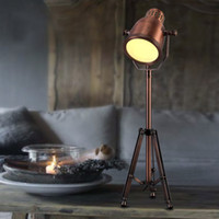Wholesale Nordic Art Antique Copper Lamps Living Room Bedroom Study Retro Decorative Lamp Industry Office