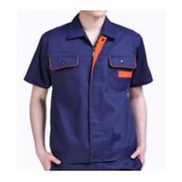 Wholesale Summer Work Uniform Clothes Suit Overalls Welding Vehicle Repair Unisex Superior Fabric Anti dust Five Size White Color Best Selling Navy