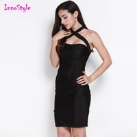 bandeau mini dress - Black sexy halter dresses for womens pink bandeau sheath dresses club ladies backless bandage summer plus size bodycon dresses for party