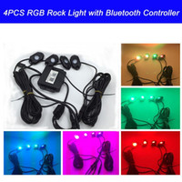 atv music - RGB LED Rock Light With Bluetooth Cell Phone Timing Music Mode Flashing Automatic Control Under OffRoad Truck SUV ATV