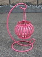 Novo estilo !! criativo dom estilo vintage arte do ferro abóbora castiçal Home Decor Europeia candlestick artigos de decoração