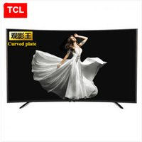 Wholesale TCL inches The movie king curved plate High color gamut Eight nuclear android intelligent LED LCD TV FULL HD P fashion TV