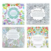 Wholesale learning toys Secret Garden Inky Treasure Hunt and Coloring Book For Children Adult Relieve Stress Kill Time Graffiti Painting Drawing Book