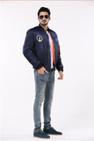 american flying jackets - NASA Freelee MA navy flight jacket nylon in the spring and autumn letterman university American bombers flying jacket