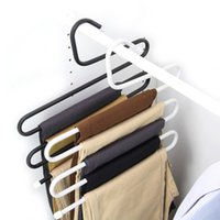 Wholesale S Shaped Multi Layer Pants Rack Stainless Steel Trousers Hanger Metal Clothes Organizer Holder for Scarf Belt Space Saving Color Availble