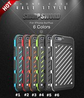 Wholesale New in Dual Color Cross Grain Sharp Sword Caseology Case Cover for iphone6 S plus S TPU PC Phone Cases High quality Free DHL