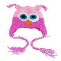 baby es - 2015 New SE Eco Friendly Fashion Cute Baby Hat Owls Knit Crochet Hat Boy Girl Beanie Cap ES