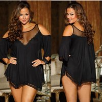 Wholesale Sexy Underwear Women exotic Lingerie black Gauze Transparent Conjoined sexy Dress Erotic Costums Clothes