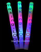Wholesale EMS FREE Sponge Glow Stick Colourful Stick LED foam stick foam light sticks glow sticks concert tuba STICK sponge sticks