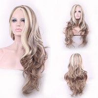 Wholesale 2016 Hot burst fashion temperament large wave high quality mixed color hair curls cos can be hot wigs