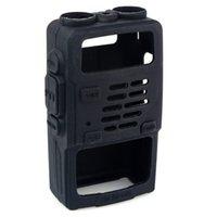 Wholesale 2016 New Arrival Rushed Newretevis Black Rubber Soft Handheld Radios Case Holster for Bf uv5r Uv rv Uv re Uv Retevis Rt r Rt rv