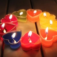 Wholesale 3 Packs Heart Shaped Wax Candle Decorative Scented Candles Romantic Wedding Candle