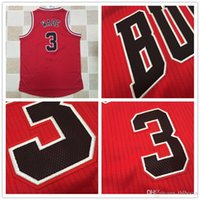 best batik - NEW AU Player Version of Embroidery Dwyane Wade Chicago Red Jerseys for Best quality Theme Costume Size S XXL Drop