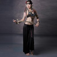 bellydance coins - Tribal Bellydance Clothing Outfit Tassel Coins Bra B C Cup Harem Trousers Women Belly Dance Costume Top and Pants