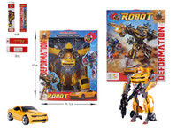 Wholesale New Arrive Kids Toy Bumblebee Toy Classic Anime Robot Action Figure Mobel Metal Birthday Gift For Children