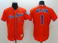 baseballs wilson - 1 Wilson New Arrivals MLB New York Mets Jerseys Orange Flexbase Collection Baseball Jerseys Stitched Free Drop Shipping