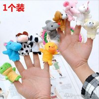 Wholesale jz Plush Toy Cartoon Animal Finger Puppet Old Macdonald had a farm toys Animal finger doll enjoyable puzzle finger doll