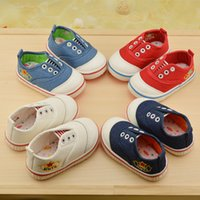 baby weight set - 2016 Children s shoes Boys Girls Baby sets foot shallow mouth canvas casual shoes Light Weight Top Quality Z L265