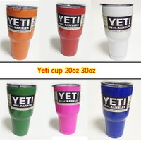 Wholesale YETI cup oz oz Powder Coated Rambler Tumbler Bilayer Stainless Steel Insulation Cup Double Walled Travel Mug Colorful