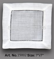 american made linens - HomeTextiles American Style120PCS White Linen hemstitched Cocktail Napkin7 quot x7 quot Table Napkin beautiful Decoration make guests feel welcome