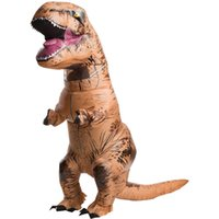 Wholesale Adult TRex Jurassic World Inflatable Costume Dinosaur Blow Up Halloween Outfit As Photos