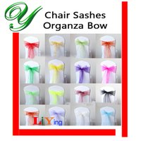 Wholesale Organza chair sashes bow ties for Wedding party Christmas decoration ornament tulle table runner skirt wrapping favor gifts overlay