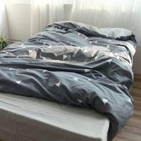 Wholesale 100 Cotton Duvet Cover Single Twin Double Quilt Case Queen King Size Modern Simple Boy Kids Comforter Cover White