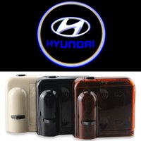 accent shadow - Wireless No Drill Magnetic Car LED Door Welcome Projector Logo Ghost Shadow Laser Lights for HYUNDAI