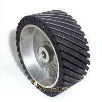 aluminum wheel polish - 250 mm Grooved Rubber Contact Polishing Wheel Belt Sander Grinder Polisher Wheel Dynamically Balanced
