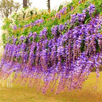 Wholesale Artificial ivy flowers Silk Flower Wisteria flower Rattan for Wedding Centerpieces Decorations Bouquet Garland Home Wall Ornaments B792
